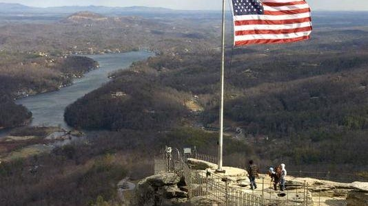The popular lookout on top of Chimney Rock is one of WNC's most recognizable landmarks.