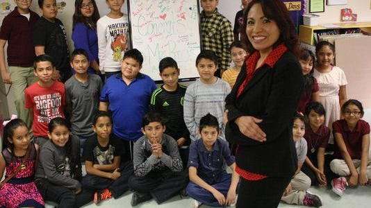 Aracelia Guillermo-Rios of Desert Trail Elementary School in Chaparral, N.M., was the national bilingual teacher of the year in 2015.
