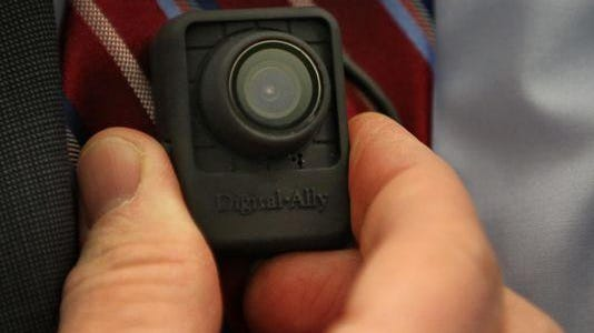 A Digital Ally body cam that was being considered by the Indianapolis Metropolitan Police Department in 2014.