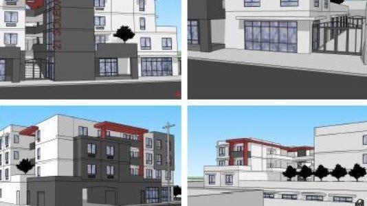 Un primer borrador de cómo se vería el proyectode viviendas MidPen en la Calle Soledad. El proyecto incluirá estudios de artistas.