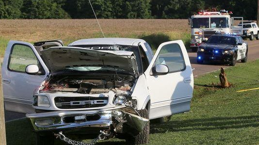 A wreck involving a pickup truck caused minor injuries Tuesday on Watson Road.