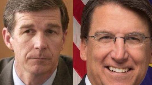 Attorney General Roy Cooper, left, and Gov. Pat McCrory
