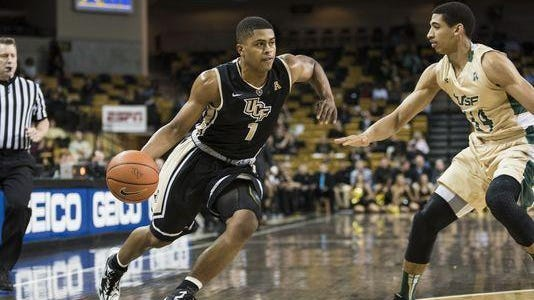 UCF's B.J. Taylor, who is from Orlando, is the Knights' leading scorer.