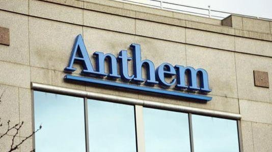 Anthem offices on Monument Circle in Indianapolis.