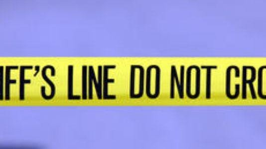 A file photo of police tape.