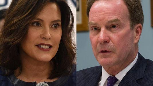 Democrat Gretchen Whitmer and Republican Bill Schuette