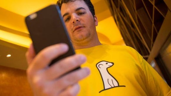 Ben Rubin, CEO and founder of Meerkat, the live video-streaming service that piggybacks on Twitter. (Photo: Jack Gruber/USA TODAY)