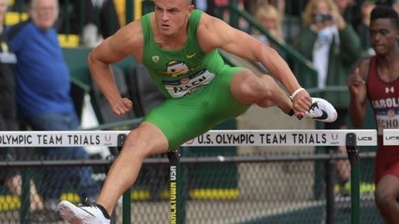 Devon Allen advances easily to the semifinals of the 110 hurdles at the US Olympic trials on Friday. (Photo: Kirby Lee, USA TODAY Sports)