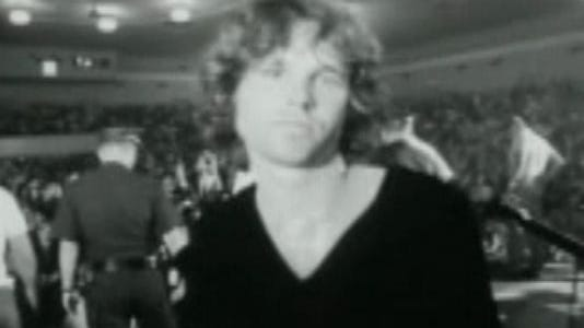 Jim Morrison of The Doors at Convention Hall, Asbury Park.