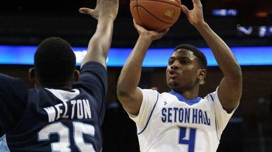 Seton Hall's Sterling Gibbs (No. 4) earned 2nd-team All-Big East honors.