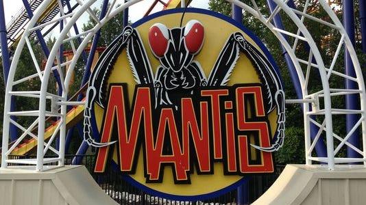 The Mantis roller coaster at Cedar Point.
