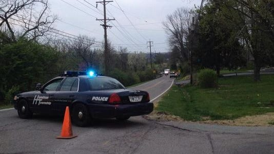 Police and sheriff's deputies closed of a portion of Lebanon Road on April 21 after the fatal shooting.