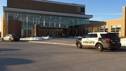 Police cars were stationed outside Valley High School's entrances on Feb. 13 after three fights broke out the day before.