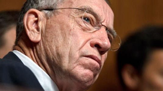Register file photoU.S. Sen. Chuck Grassley has been asking why benefits for law enforcement killed in the line of duty have been delayed.