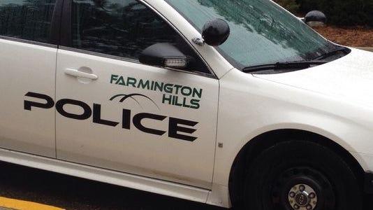 Farmington Hills police patrol car