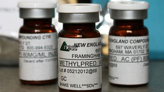 A fungal meningitis outbreak was linked to contaminated steroid solutions mixed at the New England Compounding Center in Framingham, Mass.