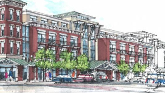 Harpeth Square would include a boutique hotel, apartments and commercial space.