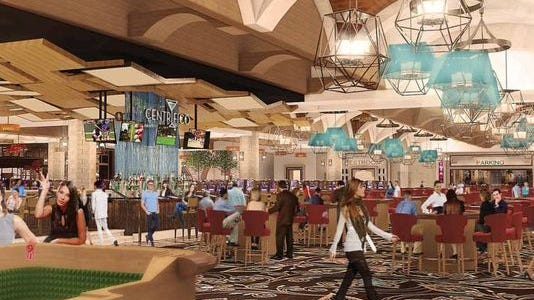 A rendering of the casino and bar that Lago Resort & Casino included in its application for a license from the state.