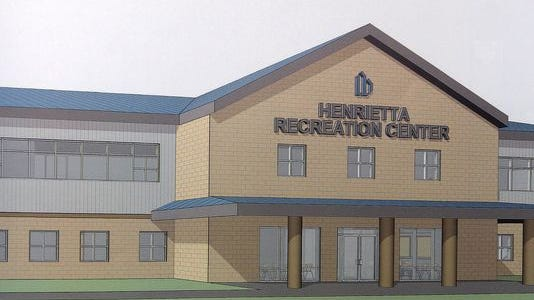 A proposed rec center in Henrietta would be 40,000 to 50,000 square feet and include a walking track.