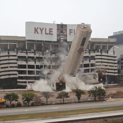 The west side of Kyle Field at Texas A&M University