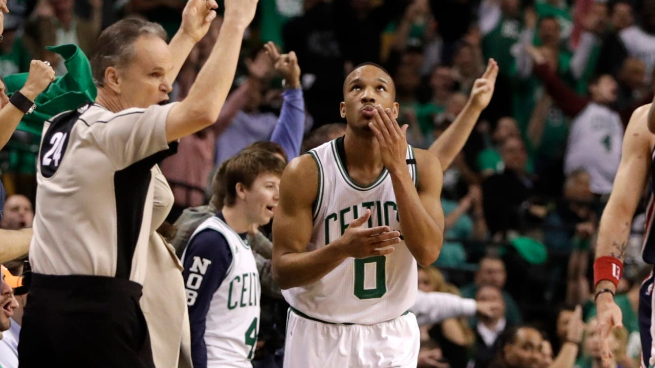 Avery Bradley and the Celtics moved one win away from the Eastern Conference finals with a 123-101 rout of the Wizards in Game 5.