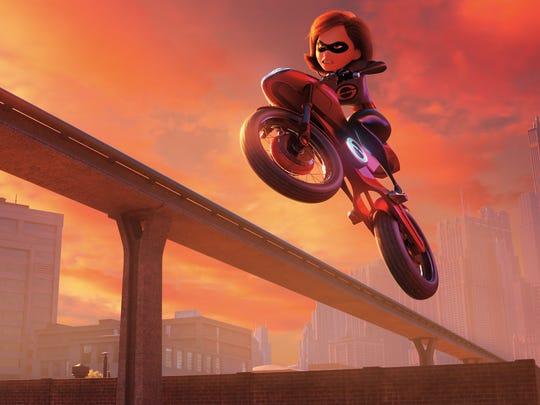 "Elastigirl takes center stage in ""Incredibles 2."""
