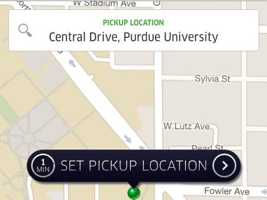 Uber's app allows people to find rides via their smartphone.
