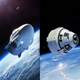 NASA-released renderings of SpaceX's Crew Dragon and Boeing's CST-100 Starliner spacecraft.