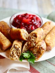 Easy Leftover Turkey Egg Rolls are crispy change of
