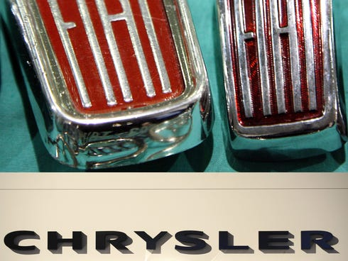 Fiat has engineered a deal to buy the 41.5%  of Chrysler that it doesn't own for $4.35 billion,  opening the door to merging the companies.