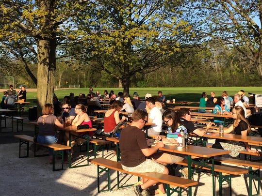 Estabrook Beer Garden combines hops with opera this weekend.