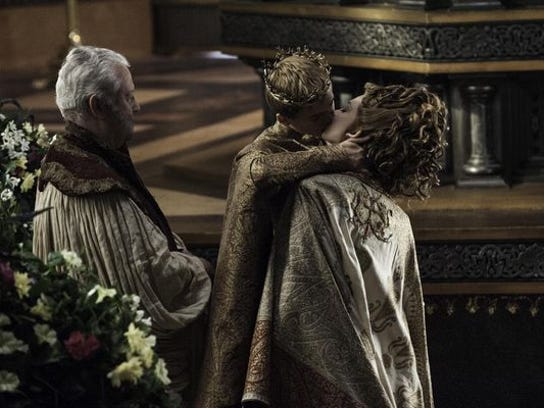 "King Joffrey wed Lady Margaery in the so-called ""Purple Wedding"" on HBO's ""Game of Thrones."""