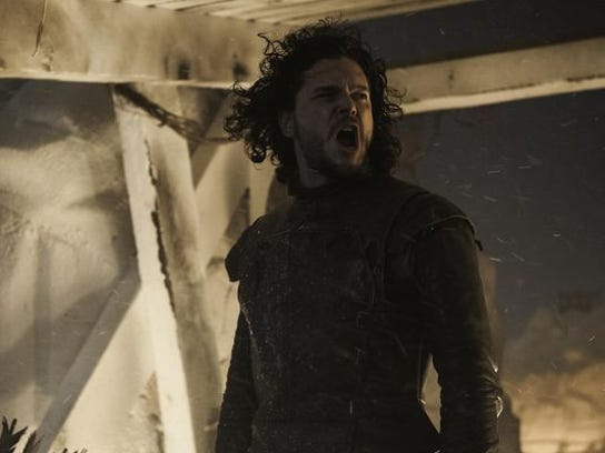 "Kit Harington plays Jon Snow on HBO's ""Game of Thrones."""