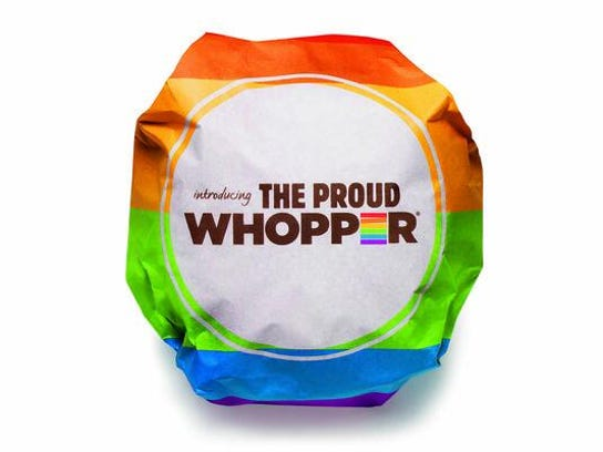 "Burger King's ""Proud Whopper."""