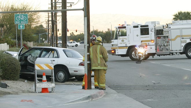 A traffic collision on Vista Chino  between Gene Autry Trail and Farrell Drive in Palm Springs.