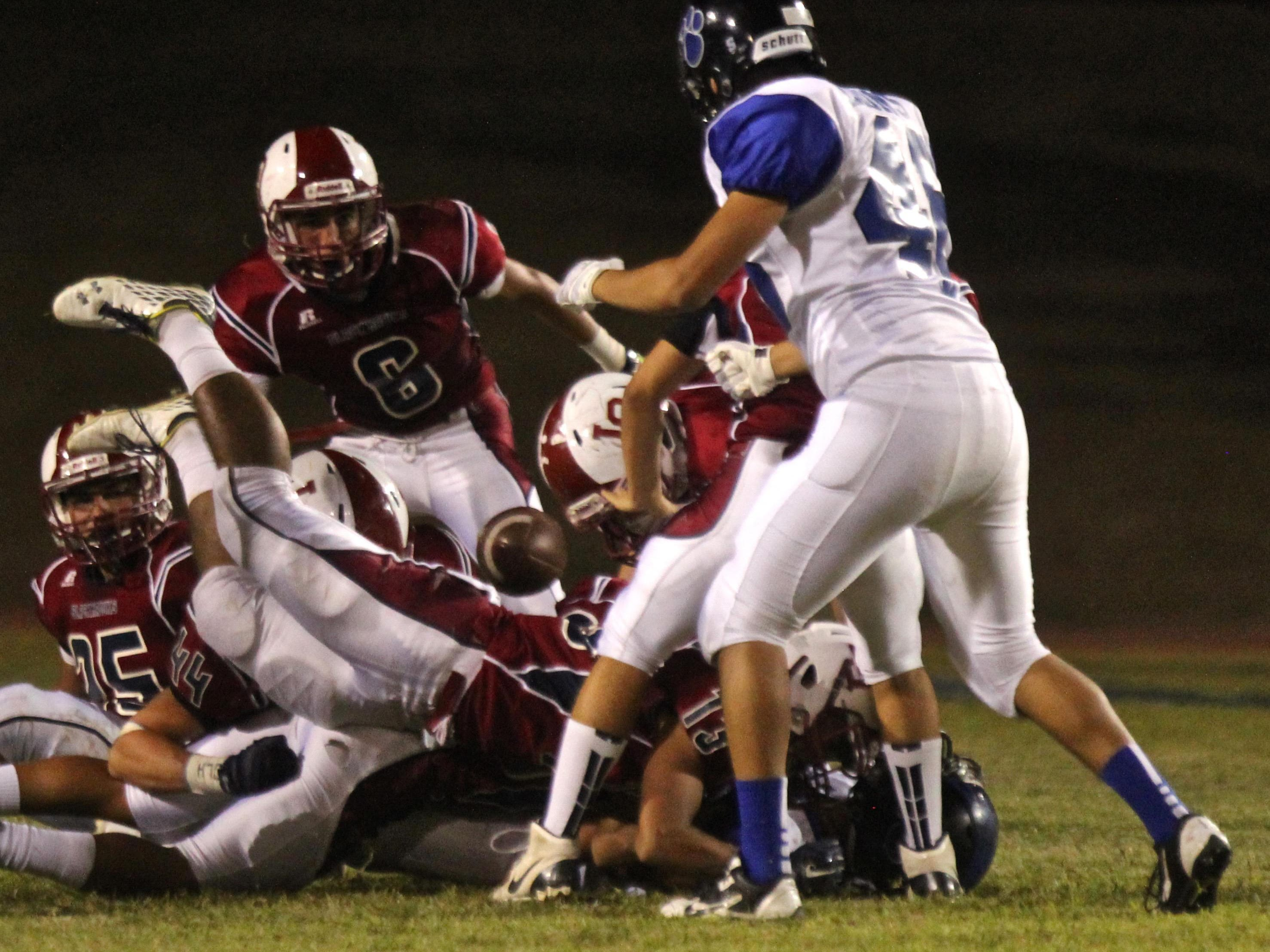 The La Quinta Blackhawks hosted the Cathedral City Lions for a football game on Friday.