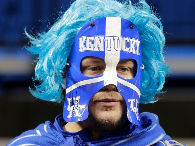 Fans arrived early to watch the University of Kentucky play the University of Louisville at Rupp Arena in Lexington. December 28, 2013