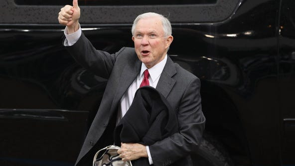 Sen. Jeff Sessions in Washington, D.C. on Jan. 20,