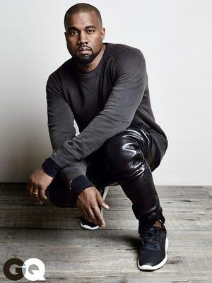 "Kanye West poses for ""GQ"" magazine."