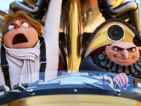 Long-long brothers Dru, left, and Gru, both voiced