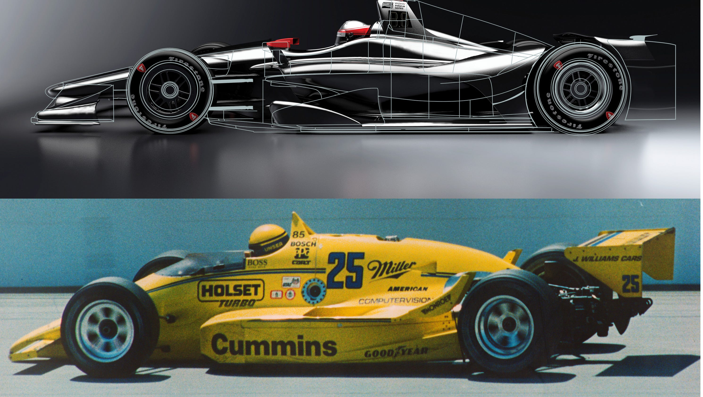 Critique: IndyCar\'s new car reminiscent of past