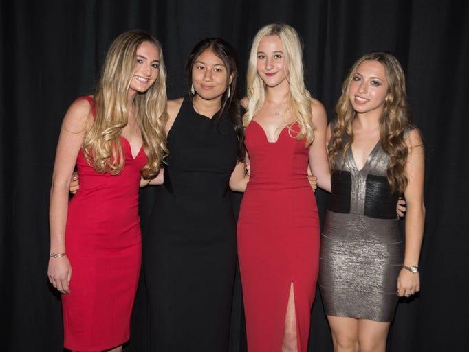 Sarah Geller, Victoria Kong, Hannah Geller and Emily