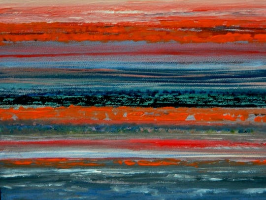 "Artist Barbara Tyson Mosley's painting ""Evening Calm"" was part of the exhibit ""12 x 12"" at Kore Gallery."