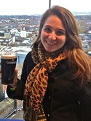 Columnist Jenna Intersimone at the Guinness Storehouse in Dublin, Ireland.