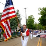 The Appleton East High School marching band participates during last year's Memorial Day Parade in Appleton. For Memorial Day this year, the band will be heading to Washington, D.C.