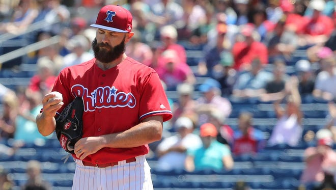 Jake Arrieta will make his Phillies debut on Sunday against the Miami Marlins.