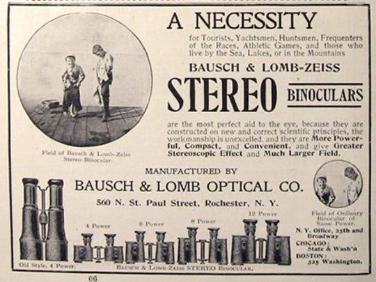 An advertisement for Bausch + Lomb Inc.