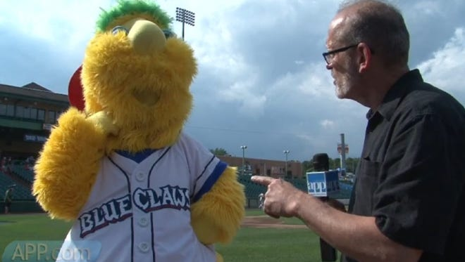 We did our best to track down and keep up with Buster at a recent Lakewood Blueclaws game at First Energy Park.