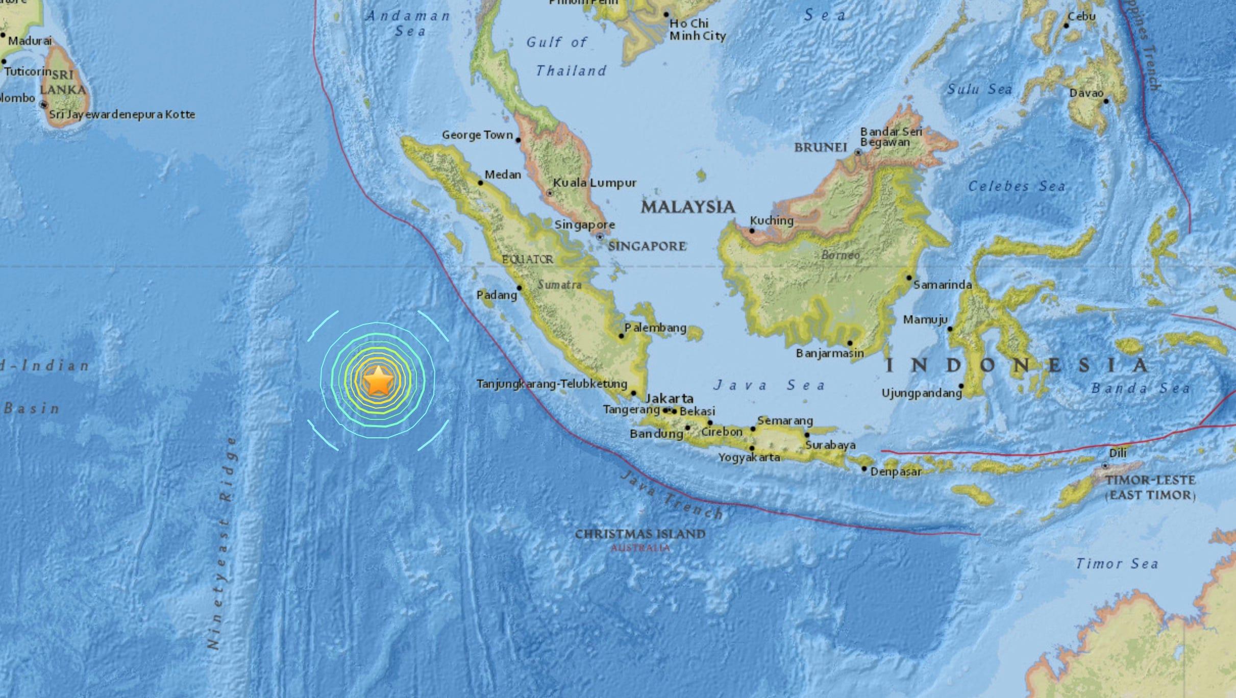 7 8 quake hits indonesia tsunami warning lifted