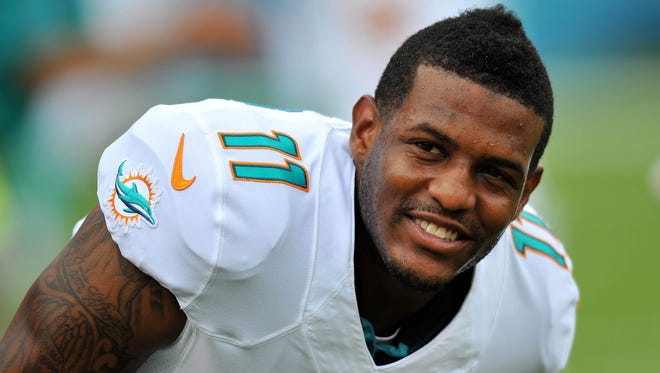 Miami Dolphins wide receiver Mike Wallace.